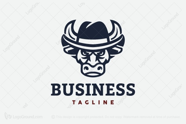 Logo for sale: Bull Mafia Or Bull Cowboy Logo