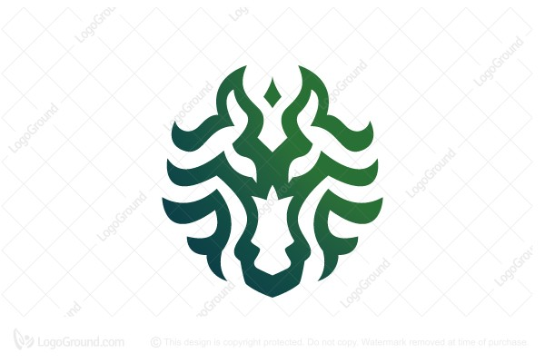 Logo for sale: Curly Horse Head Logo