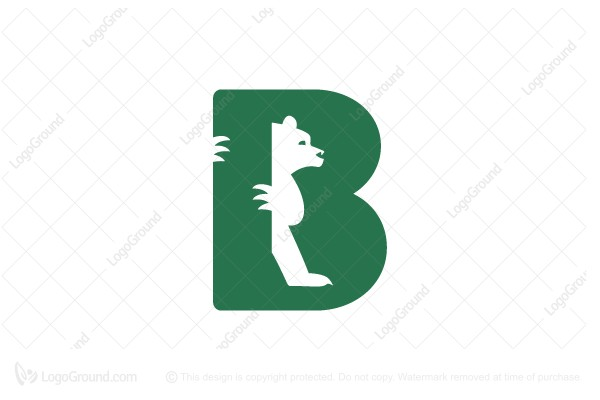 Logo for sale: Hiding Bear Logo