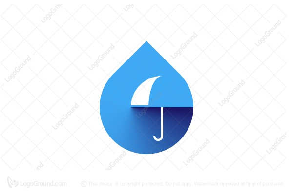 Logo for sale: Droplet and Umbrella Logo
