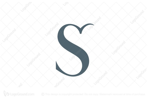 Logo for sale: Letter S Flying Bird Logo