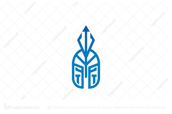 Logo for sale: Trident Warrior Helmet Logo