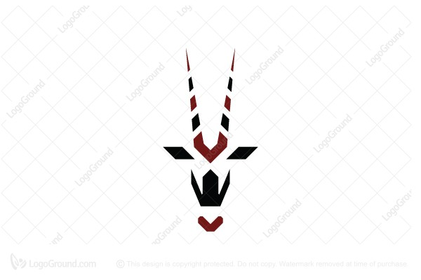 Logo for sale: Letter V Oryx Head Logo