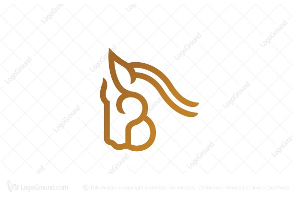 Logo for sale: Letter B Horse Logo