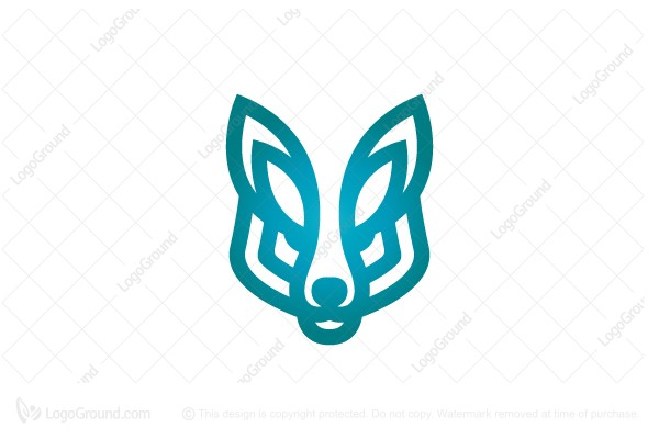 Logo for sale: Blue Wolf Head Logo