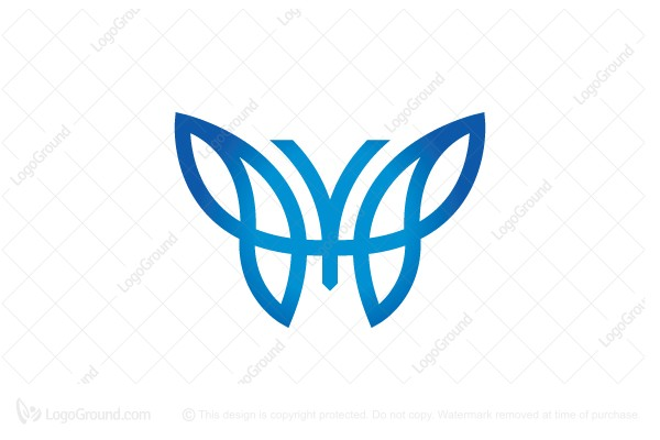 Logo for sale: Letter Y Butterfly Logo