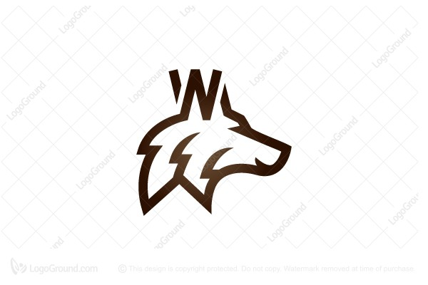 Logo for sale: Letter W Wolf Logo