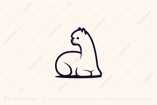 Logo for sale: Alpaca Sitting Logo