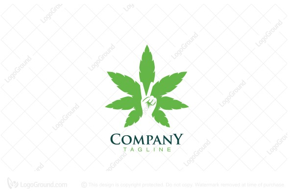 Logo for sale: Peace And Love Cannabis Logo