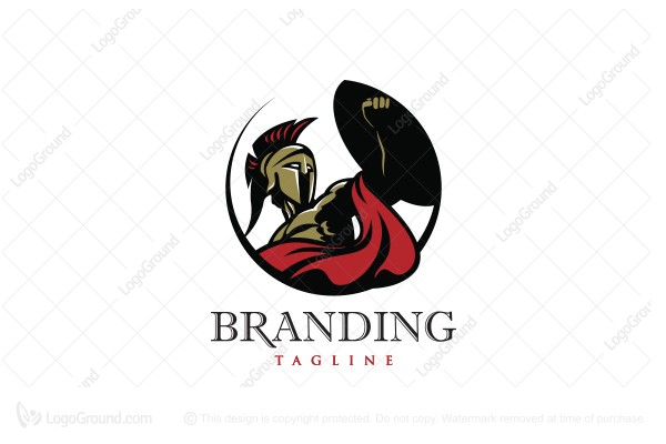 Logo for sale: Spartan Warrior Logo
