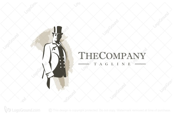 Logo for sale: The Gentleman Logo