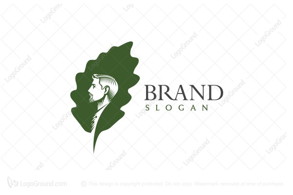 Logo for sale: The Oak Leaf Gentleman Logo
