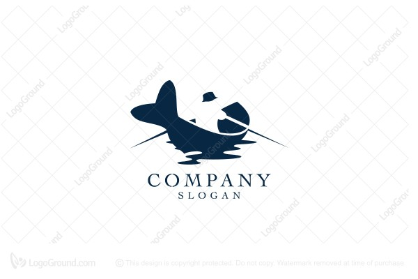 Logo for sale: The Fish Boat Logo