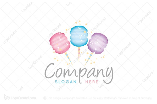Logo for sale: Cotton Candy Logo