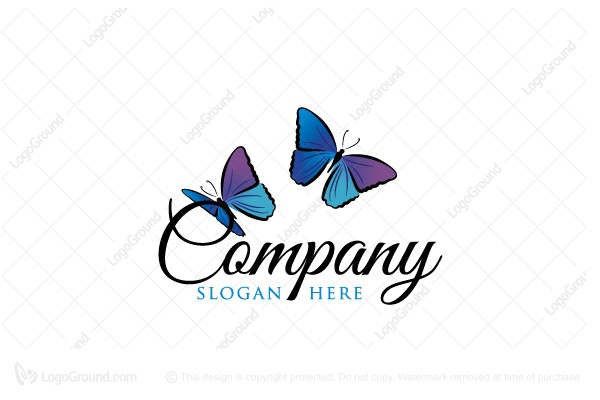 Logo for sale: Blue Butterflies Logo