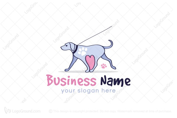 Logo for sale: Lovely Dog Walk Logo