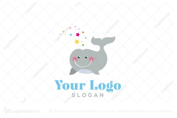 Logo for sale: Whale Baby Logo