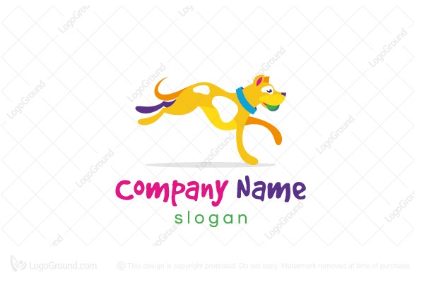 Logo for sale: Playful Dog Logo