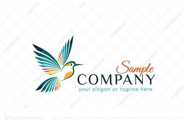 Logo for sale: Abstract Flying Bird Logo