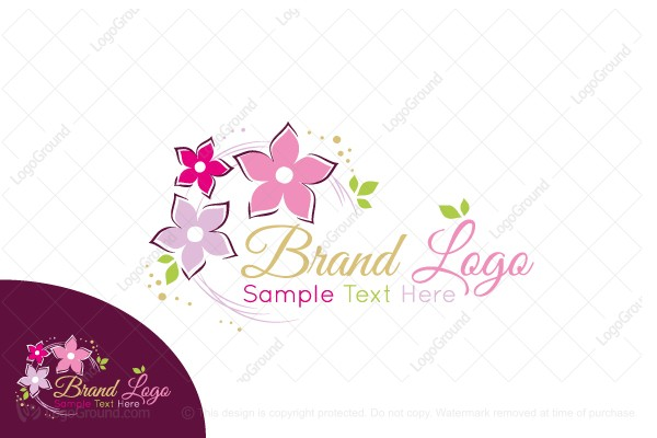 Logo for sale: Floral Circle Logo