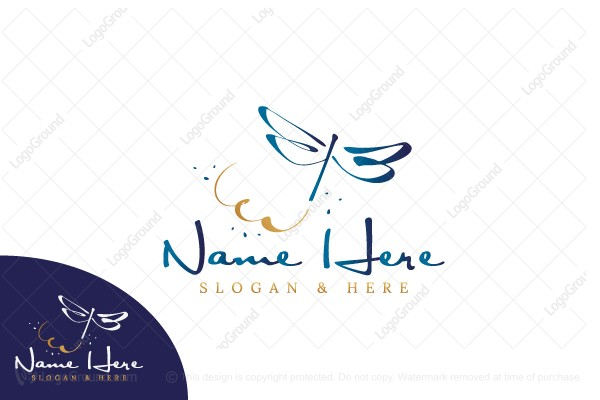 Logo for sale: Dragonfly Sketch Logo