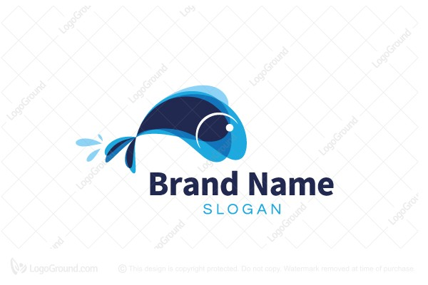 Logo for sale: Abstract Fish Logo