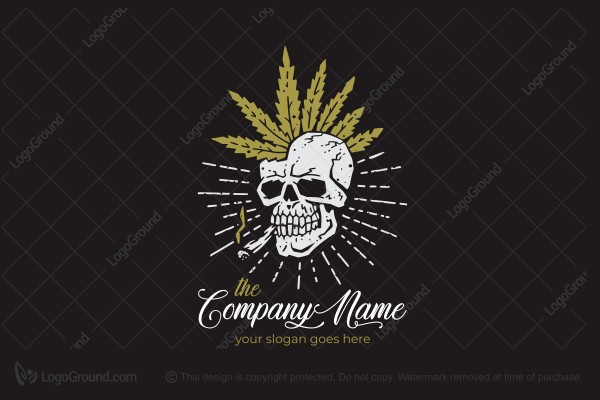 Logo for sale: Scull Hemp Logo