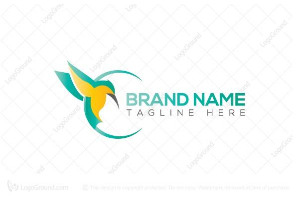 Kingfisher Bird Logo