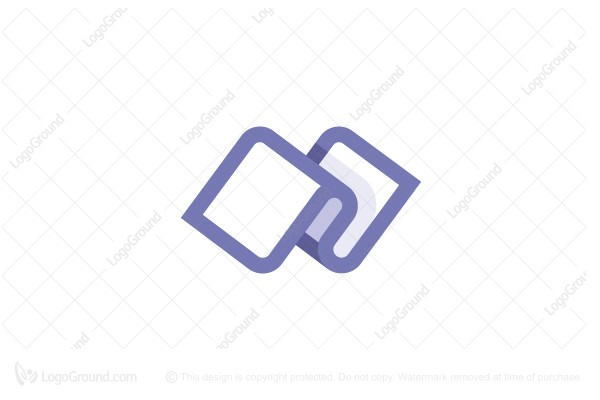 Logo for sale: Letter N Strip Logo