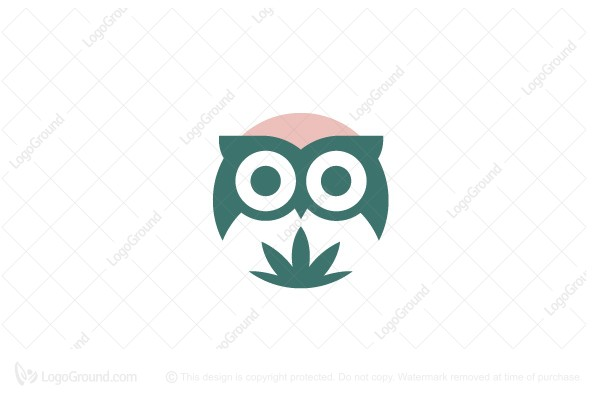 Logo for sale: Owl Weed Logo