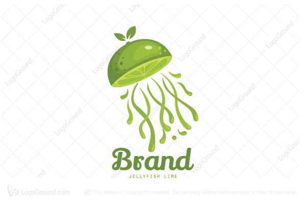 Logo for sale: Jellyfish Lime Logo