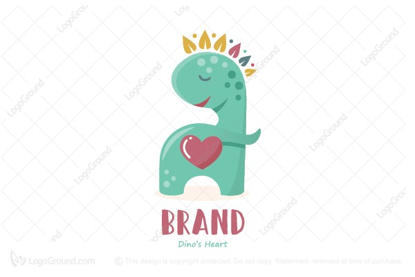 Logo for sale: Dinos Heart Logo