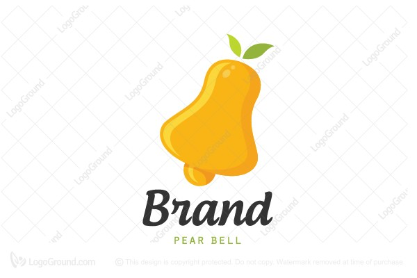 Logo for sale: Pear Bell Logo