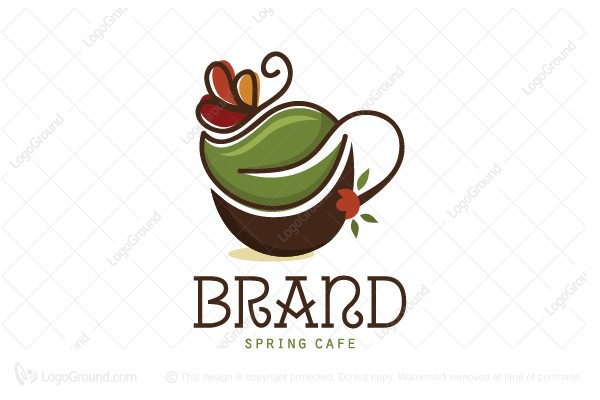 Logo for sale: Spring Cafe Logo