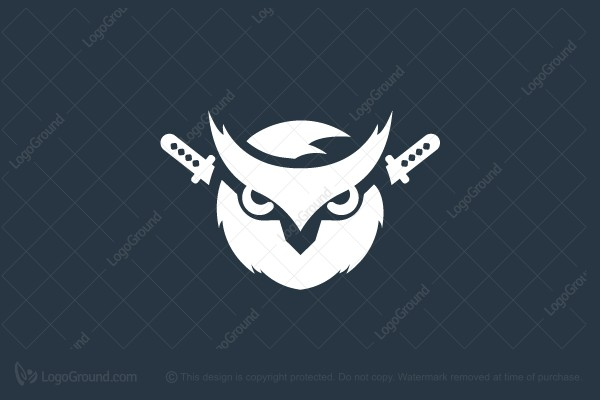 Logo for sale: Samurai Owl Logo