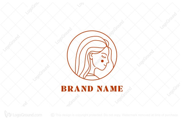 Logo for sale: Beauty Girl Logo
