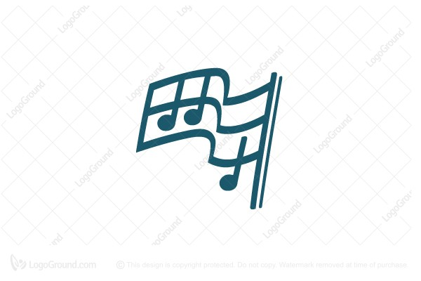 Logo for sale: Flag Music Logo