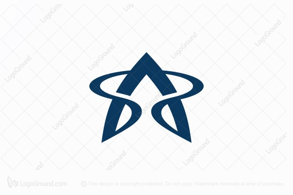 Logo for sale: Letter A  Star Logo