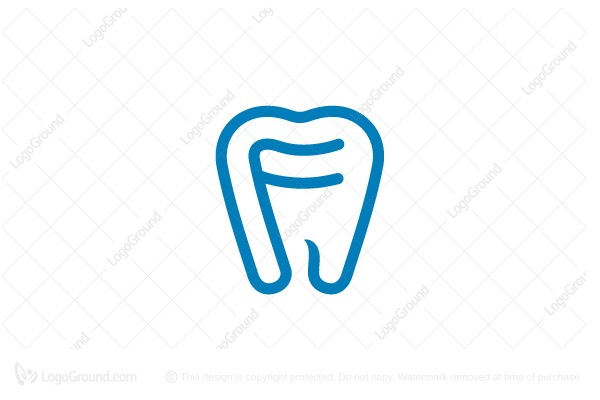 Logo for sale: Letter F Dental Logo