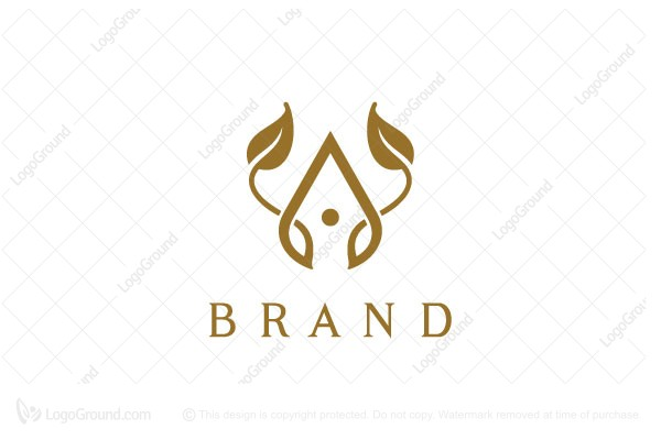 Logo for sale: Luxury Organic Letter A Logo