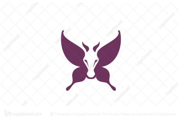 Logo for sale: Butterfly Horse Logo