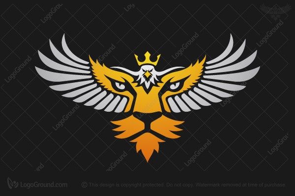 Logo for sale: Eagle And Tiger Logo