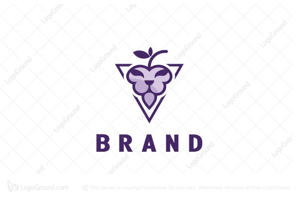 Logo for sale: Grape Lion Logo