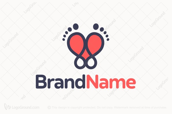 Logo for sale: Pedicure Heart Logo