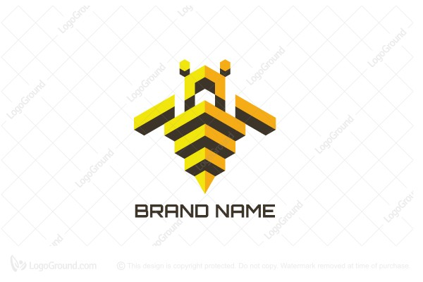 Logo for sale: Isometric Bee Logo