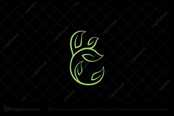 Logo for sale: Green Leaf Letter C Logo