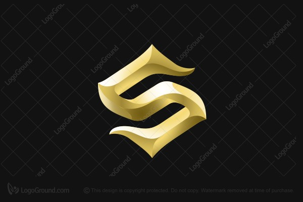 Logo for sale: Golden Letter S Logo