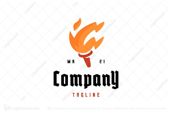 Logo for sale: F Torch Logo
