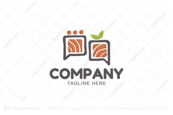 Logo for sale: Sushi Conversation Logo