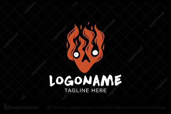 Logo for sale: Fiery Strange Man Logo